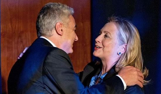 Marc Lasry and Hillary Clinton