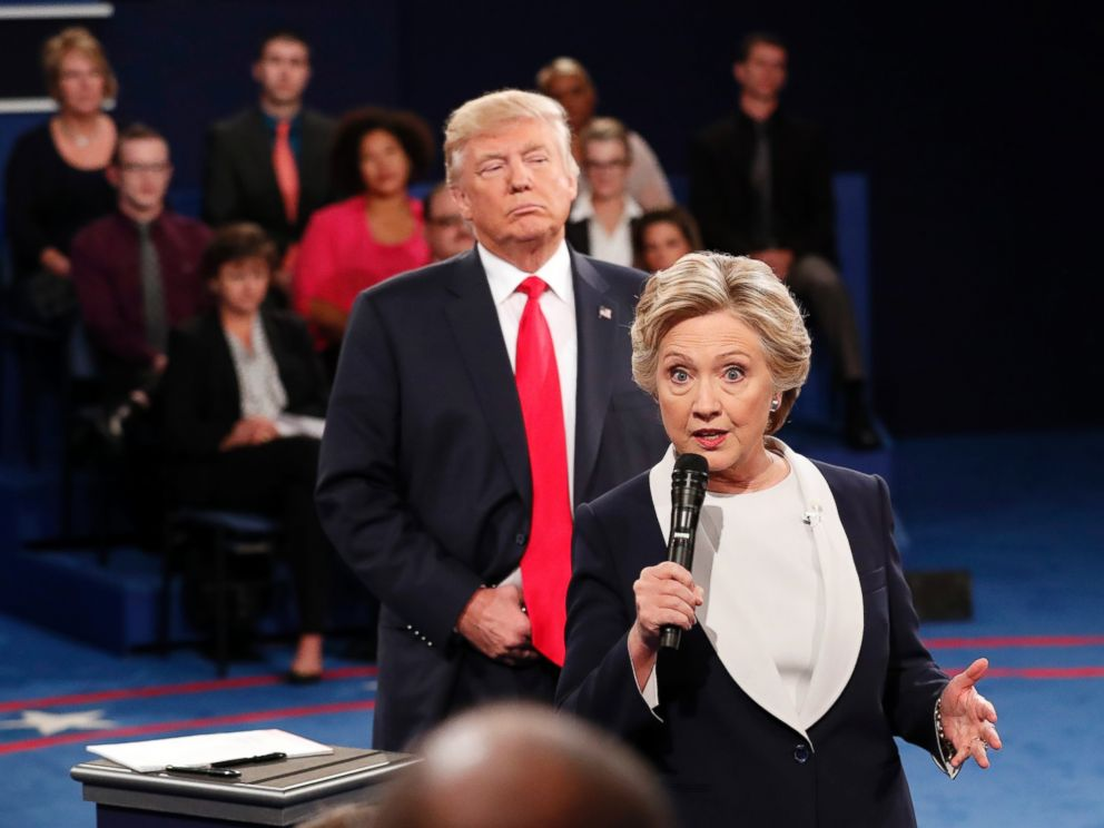 Clinton and Trump at the debates